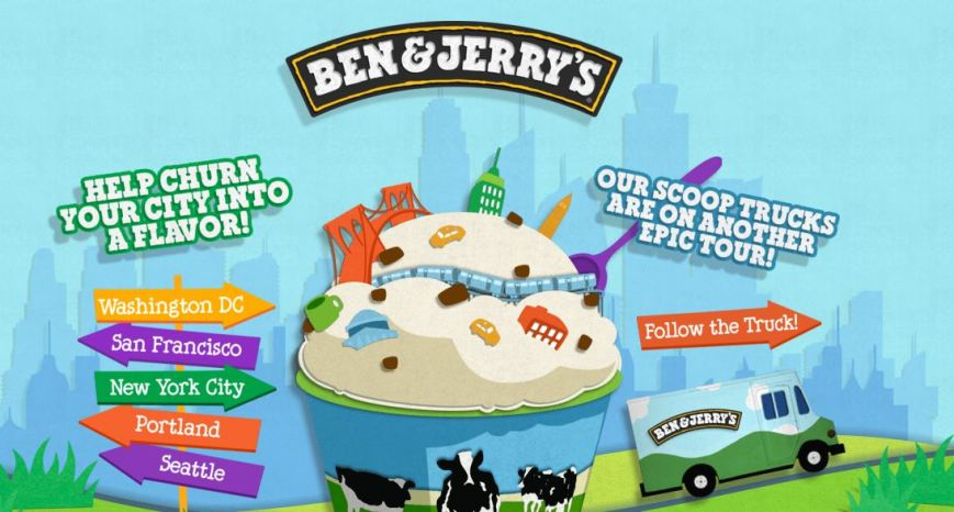 Ben & Jerry's Ice Cream has created a competition for city-inspired ice cream flavors.